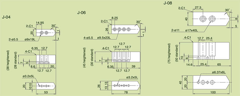 J - Soft Jaws for Super Precision Chucks Specifications