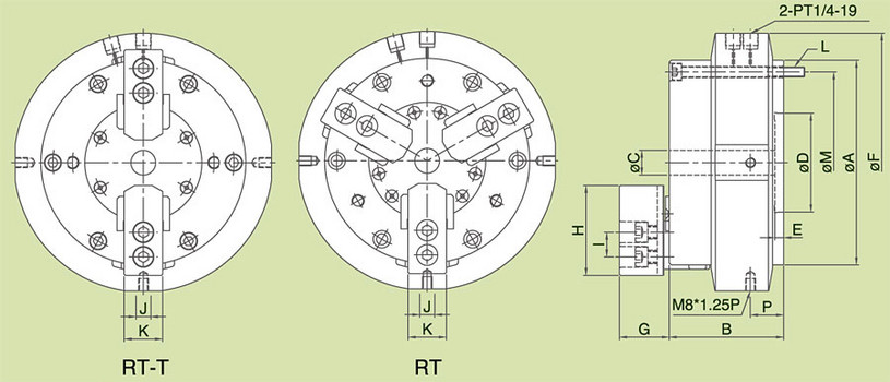 RT - Rotary Air Chuck Fixtures Specification