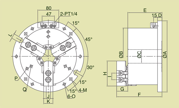 MB - Large Through Hole Power Chuck Fixture Specification